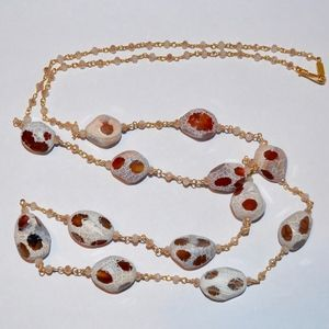 NWT CHAN LUU SPOTTED GEMSTONE GOLD NECKLACE